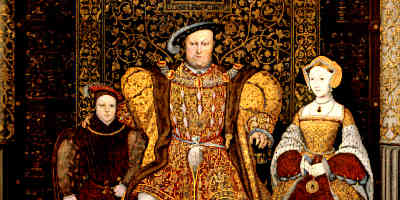 King Henry Wearing Tudor Clothes