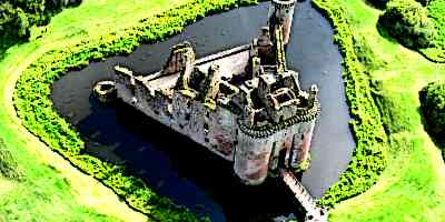 Medieval Castle Moat Ariel View - Parts of a Medieval Castle