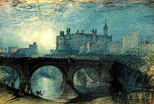 Medieval Norman Castle Turner Painting