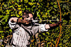 Medieval Bowyer tests a longbow