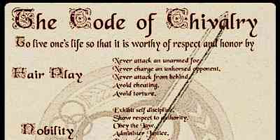 medieval life code of chivalry