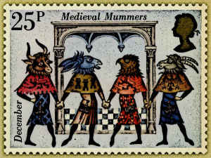 Medieval Mummers Dress and Masks