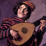 Medieval Bard Poet and Musician