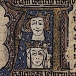 Medieval King Edward I and Eleanor image
