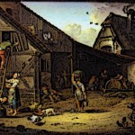 Medieval Peasants working on Medieval Farm