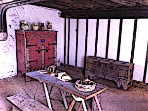 Tudor Houses Inside Medieval Merchants Tudor House Hall
